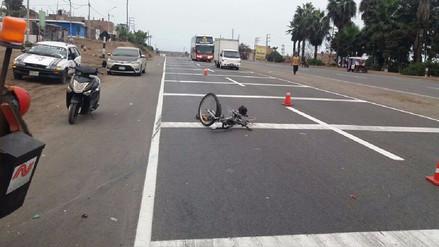 Ciclista fallece tras ser atropellado por bus interprovincial en Chancay