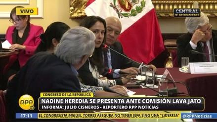 Nadine Heredia negó haber recibido dinero de Odebrecht ante la comisión Lava Jato