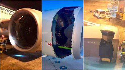 Un avión de China Eastern retornó luego de que notaron un agujero en su motor