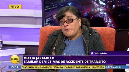 Mujer rompe en llanto en RPP y pide justicia por sus familiares muertos