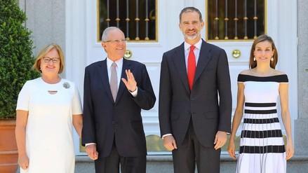 PPK se reunió con el rey Felipe VI de España en el Palacio de la Zarzuela
