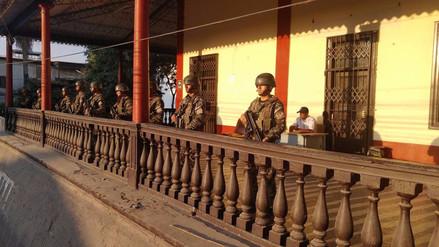 Efectivos del Ejército tomaron el control del distrito de Tumán