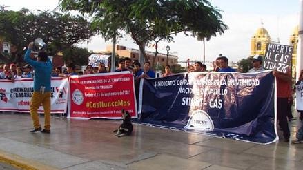 Trujillo: trabajadores CAS respaldan proyecto que elimina esta modalidad