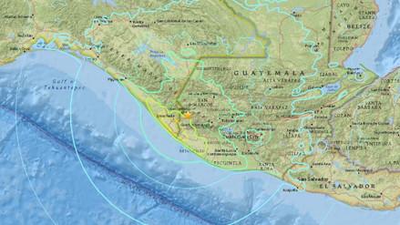 Un fuerte sismo de 6,9 grados de magnitud sacudió Guatemala