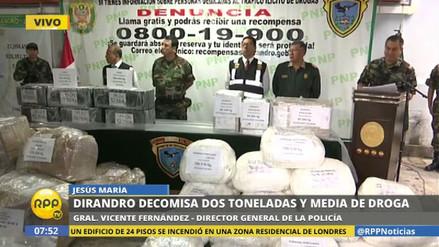 La Policía incautó dos toneladas y media de droga en los últimos 10 días