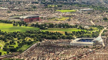 Rivales en el fútbol, pero vecinos por sus estadios