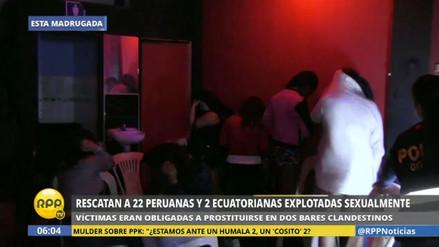 Rescatan a 24 mujeres que eran obligadas a prostituirse en Puente Piedra