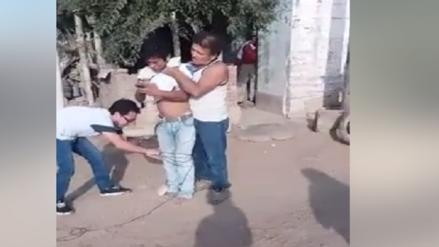 Chiclayo: Vecinos amarraron a ladrón de celulares en la Pradera