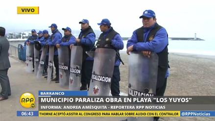 Fiscalización de Lima vigila playa Los Yuyos tras paralización de obra
