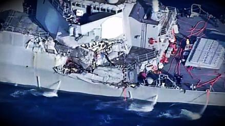 Siete desaparecidos y tres heridos tras choque de destructor de EE.UU. en Japón