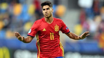 Marco Asensio anotó un 'hat- trick' en el triunfo de España sub 21
