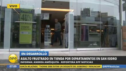 Asaltan a combazos una tienda por departamento de San Isidro