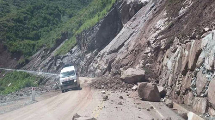 Bagua: comunidades campesinas sin agua por deslizamiento en carretera
