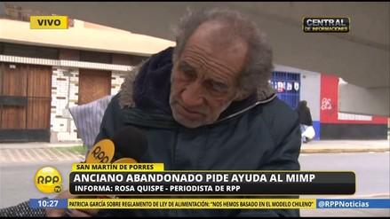 Un anciano de 75 años que vive debajo de un puente pidió ayuda al Gobierno