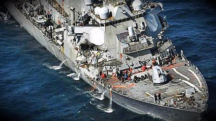 La Marina de EE.UU. confirmó la muerte de marinos desaparecidos tras choque de destructor