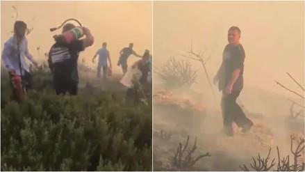 Facebook   El rey de Jordania ayudó a apagar un incendio