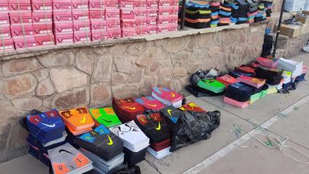 Incautan implementos deportivos falsificados valorizados en 600 mil soles