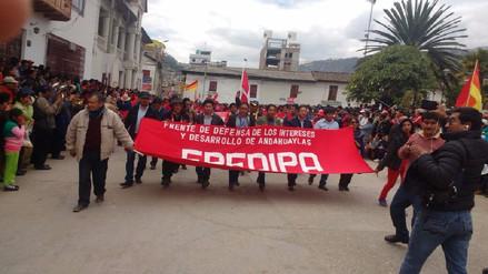 Paro indefinido en Andahuaylas continúa por octavo día consecutivo
