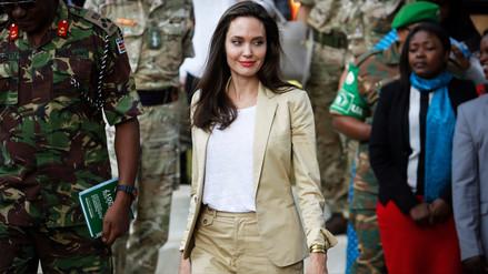 Angelina Jolie se reunió con niñas refugiadas en Kenia