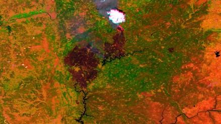 Así se ve el trágico incendio de Portugal desde el espacio