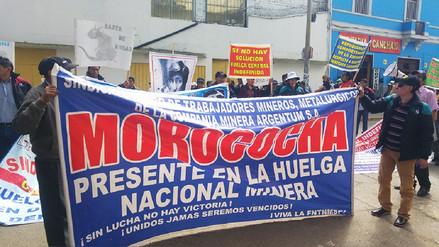 Huancayo: mineros de Argentum protestan por despidos