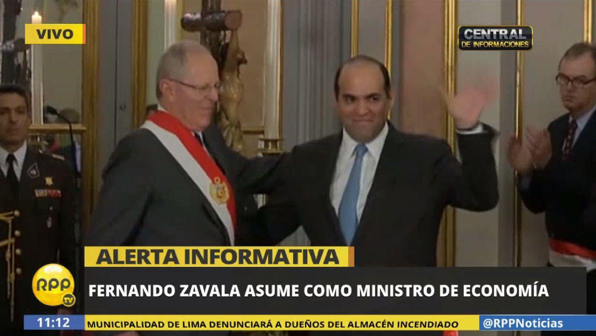 Fernando Zavala jurará este viernes como ministro de Economía y Finanzas