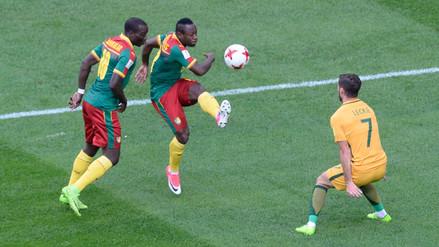 Camerún y Australia empataron 1-1 y siguen con vida en las Confederaciones