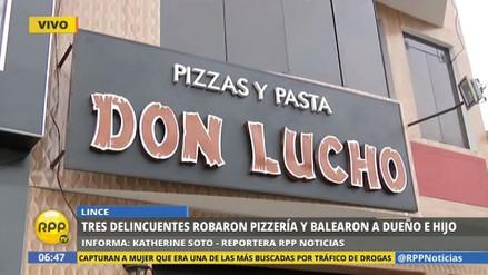 Delincuentes asaltaron una pizzería en Lince y balearon a los dueños