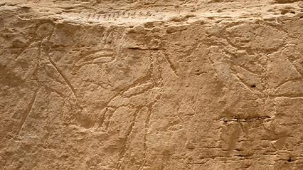 Arqueólogos descubren jeroglíficos egipcios de 5,200 años de antigüedad