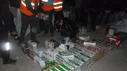 Incautan cigarrillos de contrabando valorizado en más de 200 mil soles