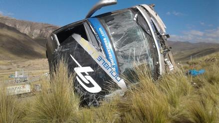 Más de 50 heridos dejó despiste de bus en La Oroya