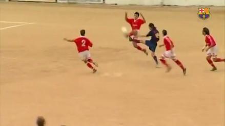 Messi cumplió 30 años y Barcelona publicó un video cuando jugaba en La Masía