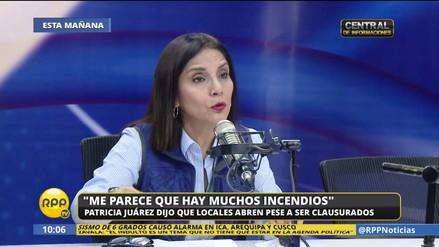 """Patricia Juárez: """"Estamos sorprendidos por la cantidad de incendios"""""""