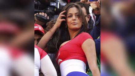 Larissa Riquelme ganó fama internacional durante el mundial Sudáfrica 2010 por sus llamativos atuendos para alentar a Paraguay.