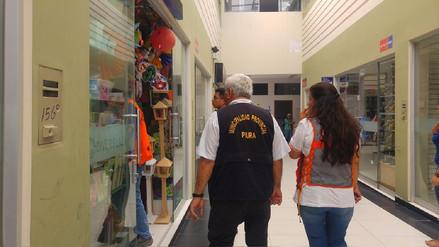 Detectan hacinamiento y falta de extintores en centro comercial de Piura