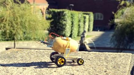 Una papa es suficiente para que arranque un carrito no tripulado