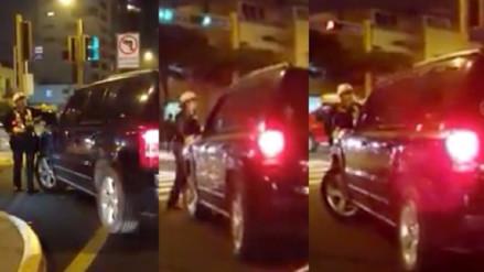 La PNP denunciará a mujer que intentó atropellar a policía en San Isidro