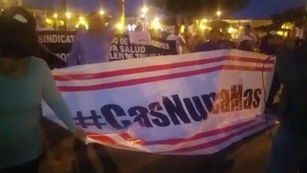 Trujillo: trabajadores CAS protestan contra Gobierno en plaza de armas