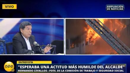 """Hernando Cevallos: """"La Municipalidad de Lima debe asumir un papel autocrítico"""""""