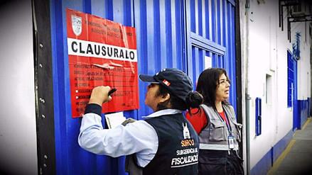 Surco clausuró 17 comercios y 2 mercados por no cumplir medidas de seguridad