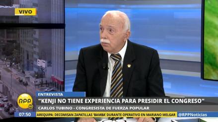 """Tubino: """"Kenji Fujimori no tiene la experiencia para presidir el Congreso"""""""