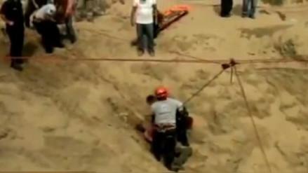Laredo: recuperan restos de presunto huaquero en cerro La Oreja