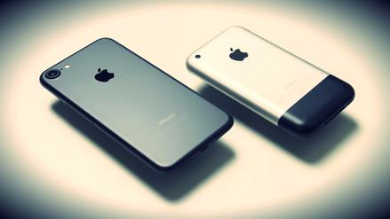 Así se compara el primer iPhone con el iPhone 7
