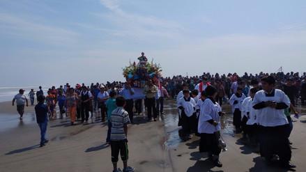 San Pedro Apóstol no fue paseado en embarcaciones debido a oleajes anómalos