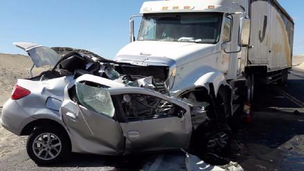 Un muerto dejó choque frontal en la carretera Panamericana Sur