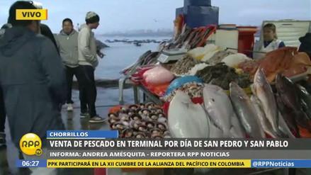 Así se vive el Día del Pescador en el terminal de Chorrillos