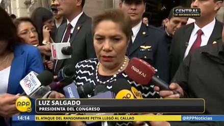 Salgado espera conocer el audio completo del contralor para tomar medidas