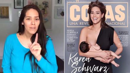 Video | Karen Schwarz responde a los que critican su foto en revista
