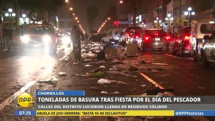 Chorrillos amaneció lleno de basura tras las celebraciones del 29 de junio