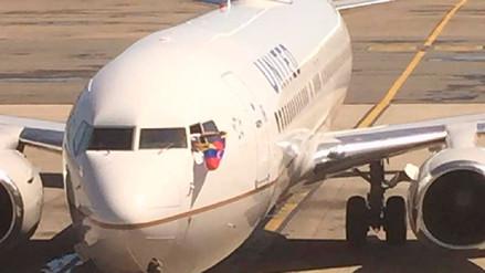 Así fue la despedida del último vuelo de United Airlines en Venezuela